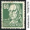 GERMANY - CIRCA 1952: stamp printed by Germany, shows Georg Wilhelm Hegel, circa 1952 - stock photo