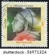 GERMANY- CIRCA 1996: stamp printed by Germany, shows Martin Luther, circa 1996. - stock photo