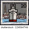 GERMANY - CIRCA 1964: Stamp printed in Germany dedicated to Hamburg, circa 1964 - stock photo