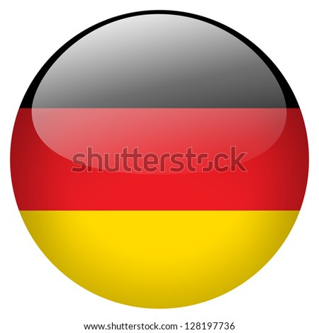 Germany flag button - stock photo