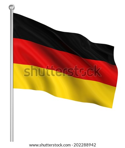 Germany flag , computer generated image. 3d render.