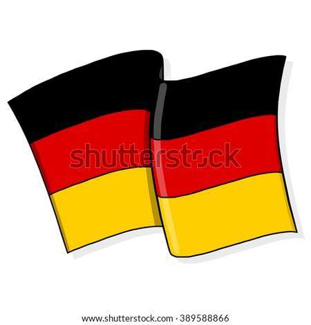 Germany Flag Illustration - stock photo