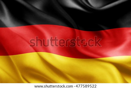 Germany flag of silk-3D illustration