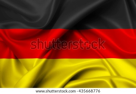 Germany flag of silk illustration