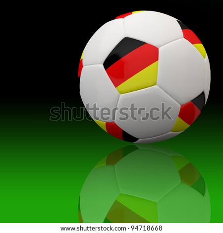 Germany flag on 3d football for Euro 2012 Group B