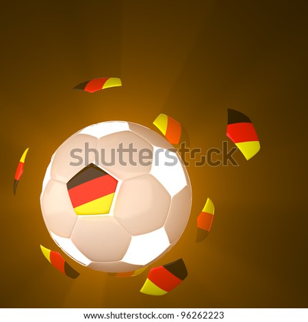 Germany flag on 3d football for Euro 2012 Group B - stock photo