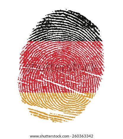 Germany Flags in the form of fingerprints