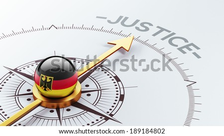 Germany High Resolution Justice Concept - stock photo