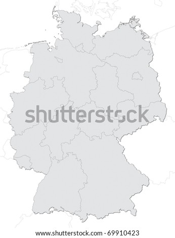 Germany Map - stock photo