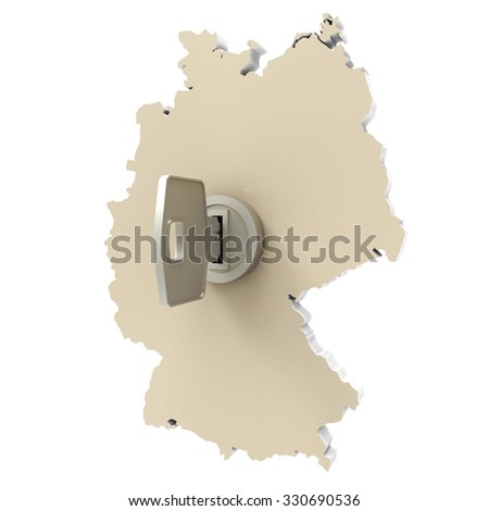 germany map with key in keyhole