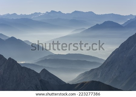 germany mountins. view from zugspitze