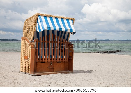Germany, Schleswig-Holstein, Baltic Sea, beach chair at beach