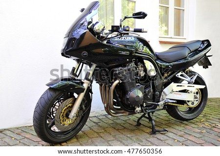 GERMANY - SEPT 02: SUZUKI motorcycle on the street on September 02,2016 in Germany.