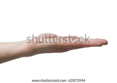 gesture hand - stock photo