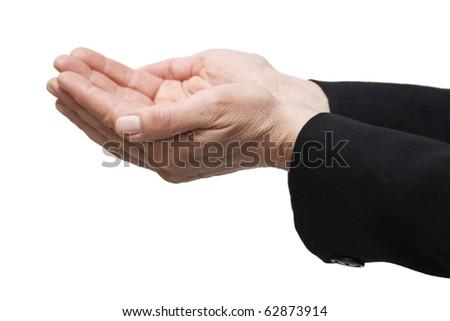 gesture hands - stock photo