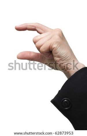 gesture little - stock photo