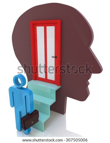 Get inside your mind  - stock photo