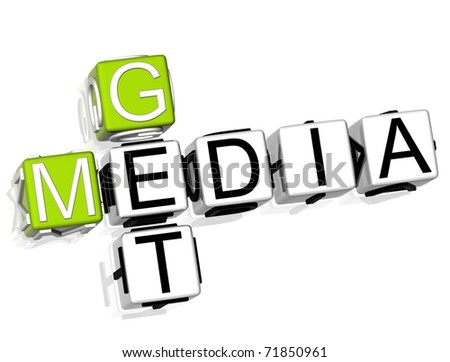 Get Media Crossword on white background