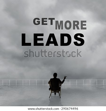 Get More Leads, text on the sky.