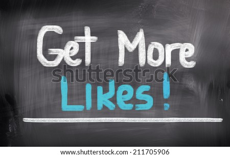 Get More Likes Concept - stock photo