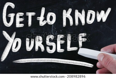 get to know yourself - stock photo