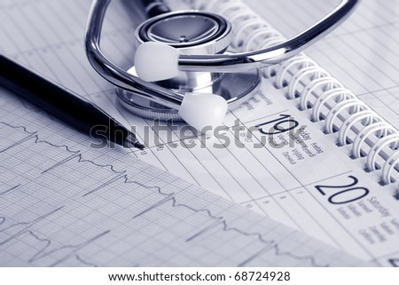 Get well soon - make an appointment with your doctor - stock photo