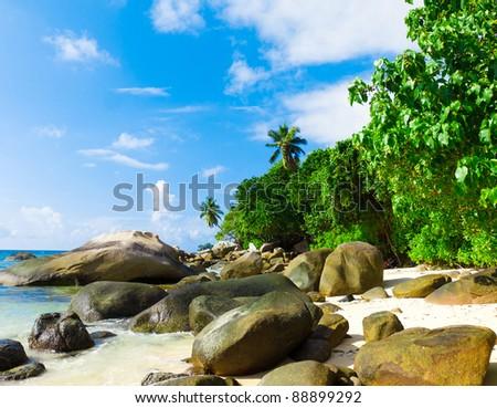Getaway Exotic Island - stock photo
