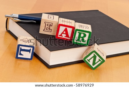 Getting an Education Concept - stock photo
