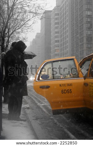 Getting into a warm cab - New York, NY