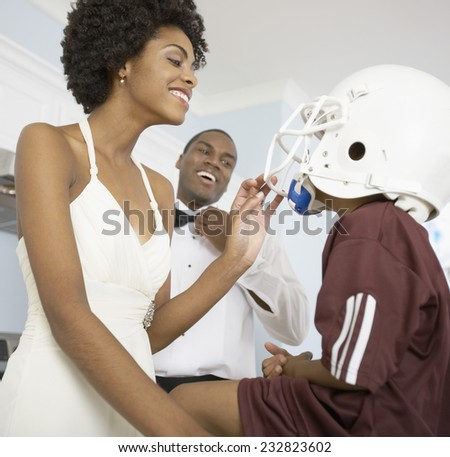 Getting Ready for an Evening Out - stock photo