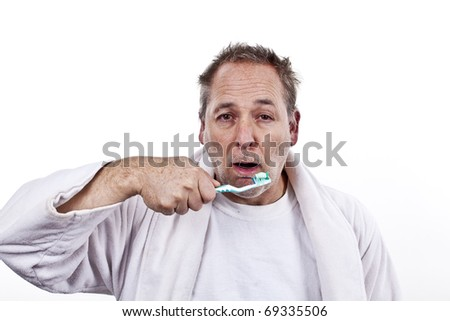 getting ready to brush your teeth