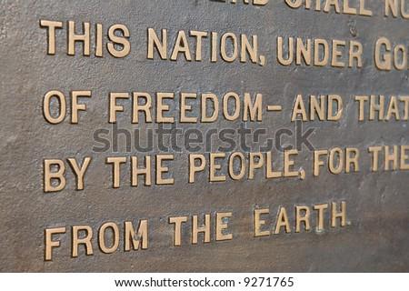 Gettysburg Address - stock photo