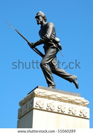 Gettysburg Battlefield Monument - stock photo