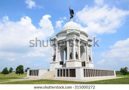 Gettysburg National Military Park - stock photo