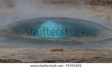 Geyser bubble - stock photo