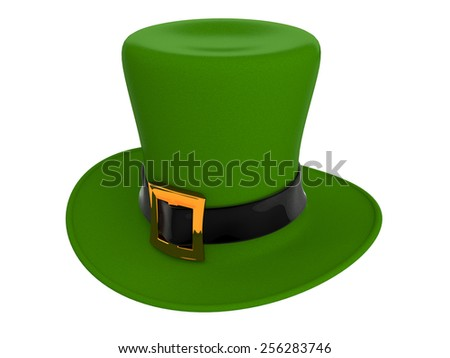 Ggreen hat of a leprechaun - stock photo