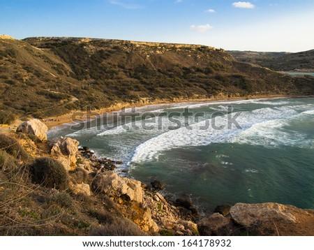 Ghajn Tuffieha, Malta - stock photo