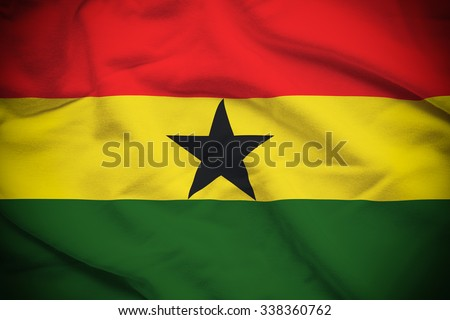 Ghana Flag - stock photo