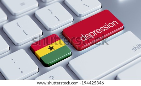 Ghana High Resolution Depression Concept - stock photo