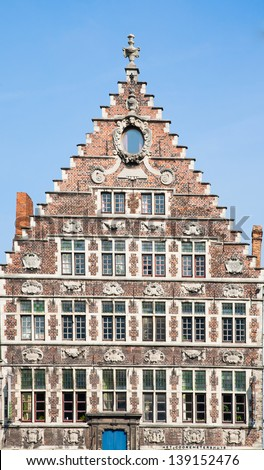 Ghent house - stock photo