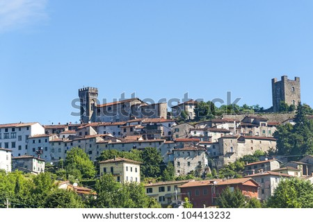 Ghivizzano (Lucca, Tuscany, Italy), medieval town in Garfagnana - stock photo