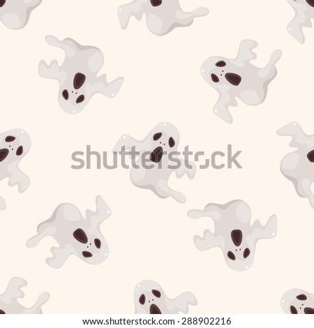 ghost , cartoon seamless pattern background