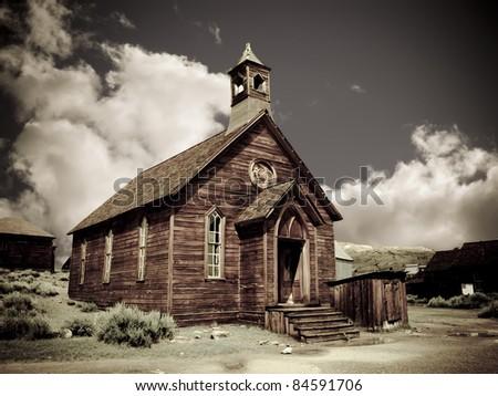Ghost Church - stock photo