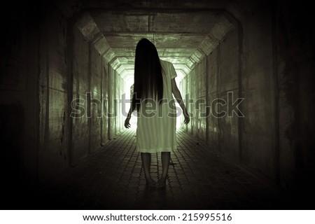 Ghost Girl   Horror - stock photo