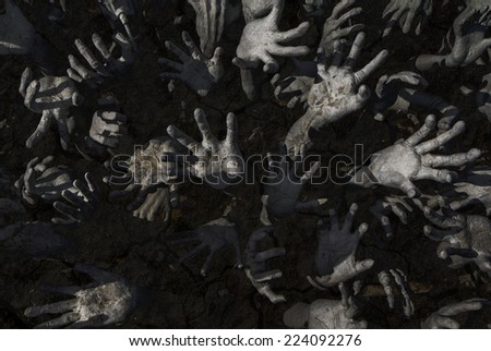 ghost hand - stock photo