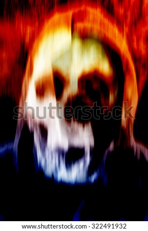 Ghost,Horror Background For Halloween Concept or Book Cover - stock photo