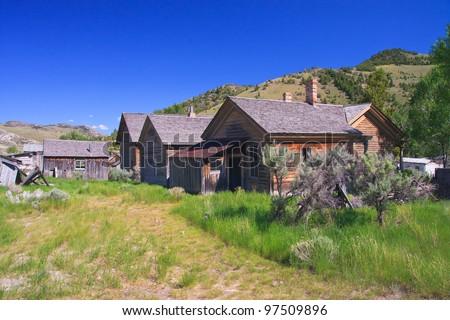 Ghost town, Bannack State Park, Montana - stock photo