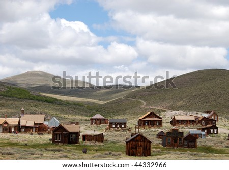 ghost town - Bodie, California - stock photo