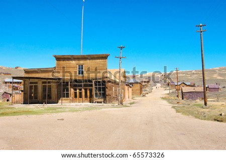 ghost town buildings - stock photo