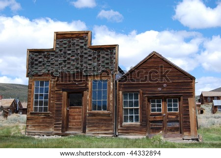 ghost town buildings - Bodie, California - stock photo